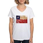 Chile Flag Women's V-Neck T-Shirt