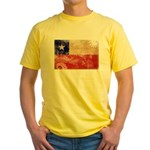 Chile Flag Yellow T-Shirt