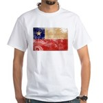 Chile Flag White T-Shirt