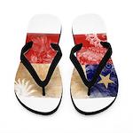 Chile Flag Flip Flops
