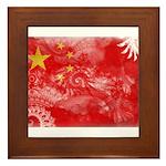 China Flag Framed Tile