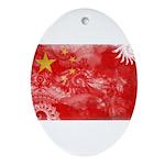 China Flag Ornament (Oval)