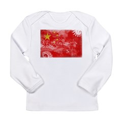 China Flag Long Sleeve Infant T-Shirt