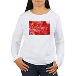 China Flag Women's Long Sleeve T-Shirt