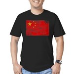 China Flag Men's Fitted T-Shirt (dark)