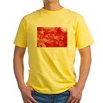 China Flag Yellow T-Shirt