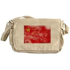 China Flag Messenger Bag