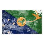 Christmas Island Flag Sticker (Rectangle 10 pk)