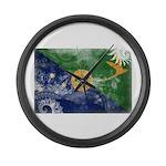 Christmas Island Flag Large Wall Clock