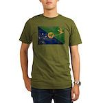 Christmas Island Flag Organic Men's T-Shirt (dark)