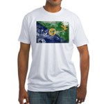 Christmas Island Flag Fitted T-Shirt