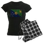 Christmas Island Flag Women's Dark Pajamas