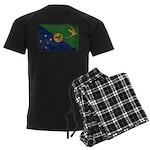 Christmas Island Flag Men's Dark Pajamas