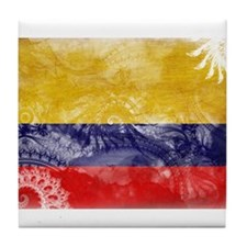 Colombia Flag Tile Coaster