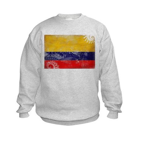 Colombia Flag Kids Sweatshirt