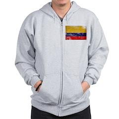 Colombia Flag Zip Hoodie
