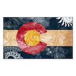 Colorado Flag Sticker (Rectangle 50 pk)