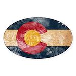 Colorado Flag Sticker (Oval 50 pk)