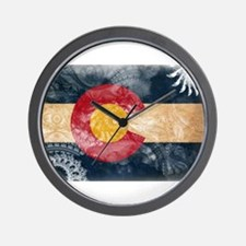 Colorado Flag Wall Clock