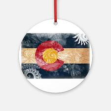 Colorado Flag Ornament (Round)