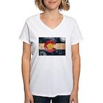 Colorado Flag Women's V-Neck T-Shirt