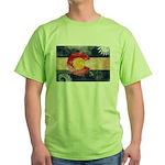 Colorado Flag Green T-Shirt