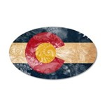 Colorado Flag 22x14 Oval Wall Peel