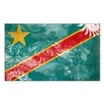 Congo Flag Sticker (Rectangle 10 pk)