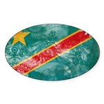 Congo Flag Sticker (Oval 10 pk)