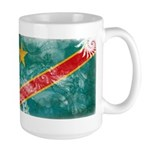 Congo Flag Large Mug