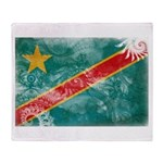 Congo Flag Throw Blanket