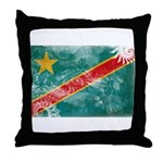 Congo Flag Throw Pillow