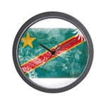 Congo Flag Wall Clock