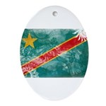 Congo Flag Ornament (Oval)
