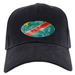 Congo Flag Black Cap