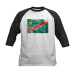 Congo Flag Kids Baseball Jersey