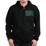 Congo Flag Zip Hoodie (dark)