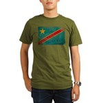 Congo Flag Organic Men's T-Shirt (dark)