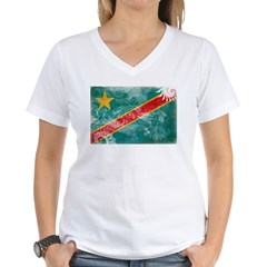 Congo Flag Women's V-Neck T-Shirt