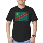 Congo Flag Men's Fitted T-Shirt (dark)