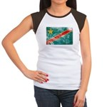 Congo Flag Women's Cap Sleeve T-Shirt