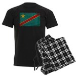 Congo Flag Men's Dark Pajamas