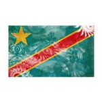 Congo Flag 38.5 x 24.5 Wall Peel