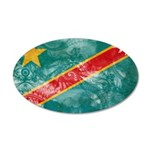 Congo Flag 38.5 x 24.5 Oval Wall Peel
