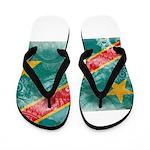 Congo Flag Flip Flops