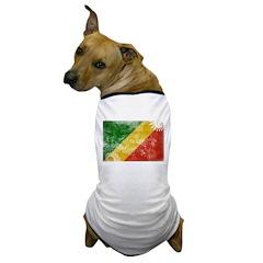 Congo Republic Flag Dog T-Shirt