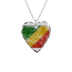 Congo Republic Flag Necklace