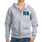 Connecticut Flag Women's Zip Hoodie