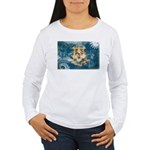 Connecticut Flag Women's Long Sleeve T-Shirt