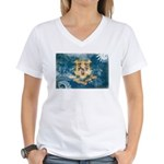 Connecticut Flag Women's V-Neck T-Shirt
